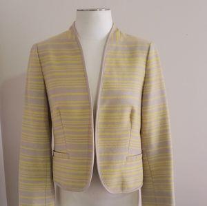 Ann Taylor Loft Yellow Striped Jacket